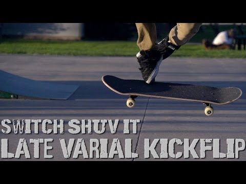 Switch ShuvIt Late Varial Kickflip (Slow Motion