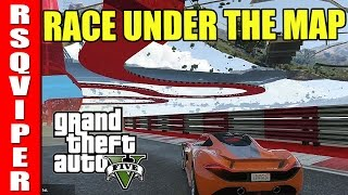Race UNDER the Map! GLITCH Stunt Race in Grand Theft Auto V