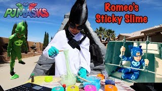 PJ MASKS - ROMEO'S STICKY SLIME and CATBOY AND GEKKO RC CARS