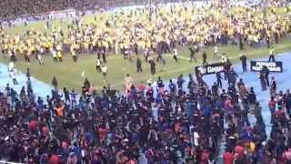 Massive Violence as Football Fan Fight in The Stadium