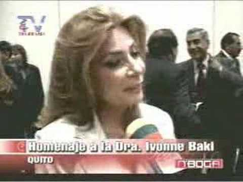 Homenaje a la Dra. Ivonne Baki