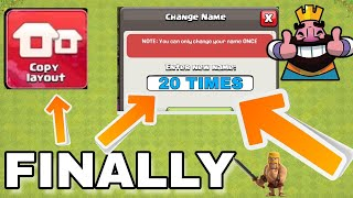 NEW UPDATE CHAGE YOUR NAME |QUALITY LIFE IMPROVEMENT IN CLASH OF CLANS| TH 12 UPDATE PRIVIEW.