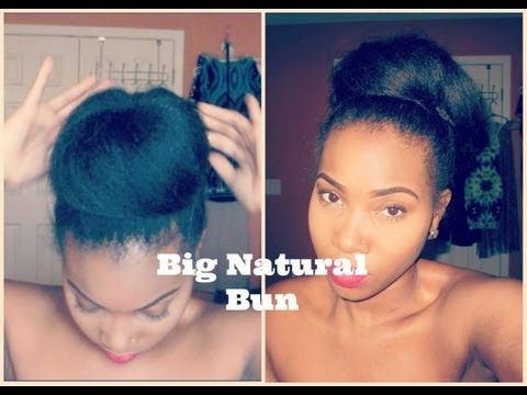 Easy Big Bun  Make hair appear longer& fuller!