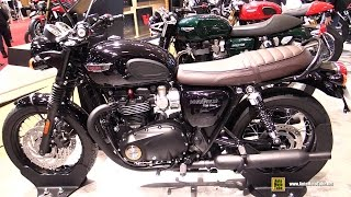 2016 Triumph Bonneville T120 Black - Walkaround - 2015 Salon de la Moto Paris