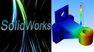 SolidWorks Simulation. Держатель. Часть 2. (Урок 8)