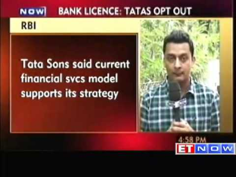 Tata Sons withdraws application for new bank license