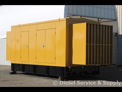 1000 kW Caterpillar Diesel Generator Set – 277/480 V, Low Hour Used 1 MW Genset #87024