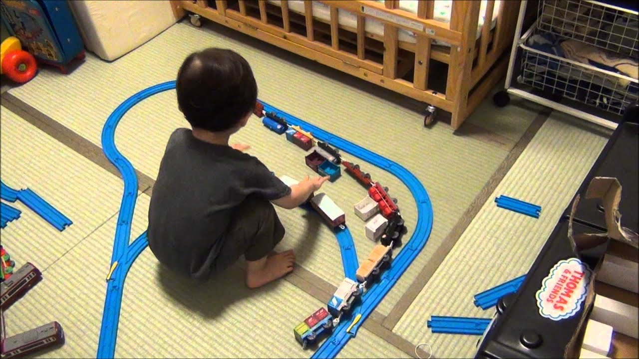 Toy Train Tracks : Toy train video for children adens third birthday