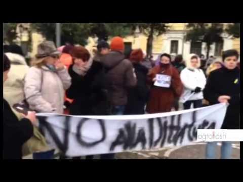 Movimento Maidan di Salerno contro il governo di Viktor Yanukovich