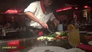 Kobe Japanese steakhouse Японский ресторан. Show cooking Кулинарное шоу. Флорида США