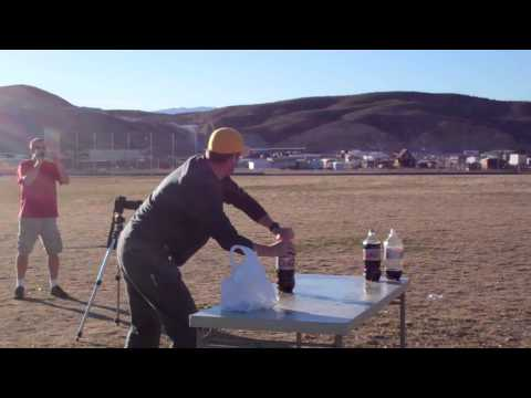 Diet Coke Rocket Experiments 300+ feet and Mentos Candy [HD]