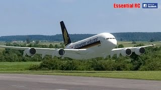 Singapore Airlines AIRBUS A380 LOW PASS and FLY BY