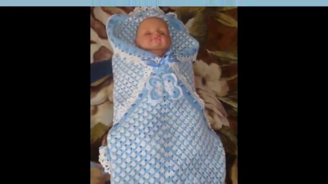 Мастер класс по вязанию конверта для новорожденного 88