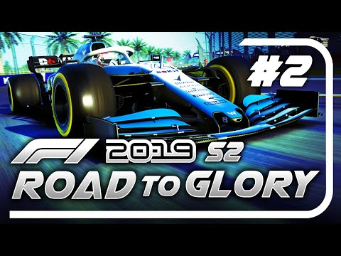 F1 2019 Road to Glory Career Mode - S2 Part 2: FLIPPING A CAR ON ITS SIDE NEARLY!