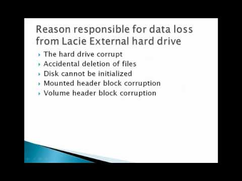 Recover Lost Data from Lacie Drive