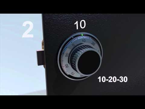 LA GARD Mechanical Lock: 3-Wheel - How to Open with Set Combination