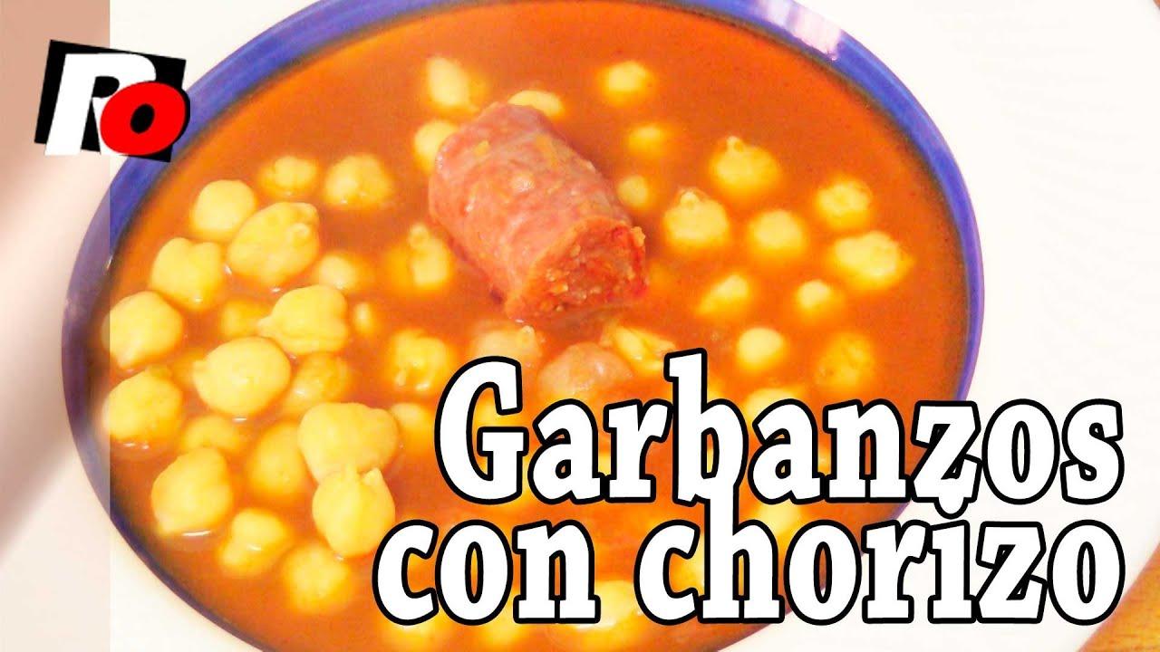 Garbanzos con chorizo recetas de cocina youtube for Cocinar garbanzos con chorizo