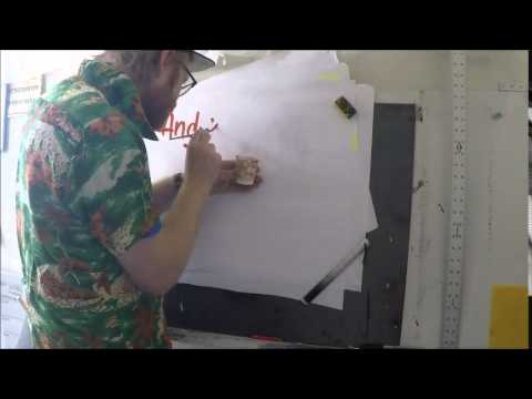 How to Hand Paint Paper Signs - Sign Painting San Francisco