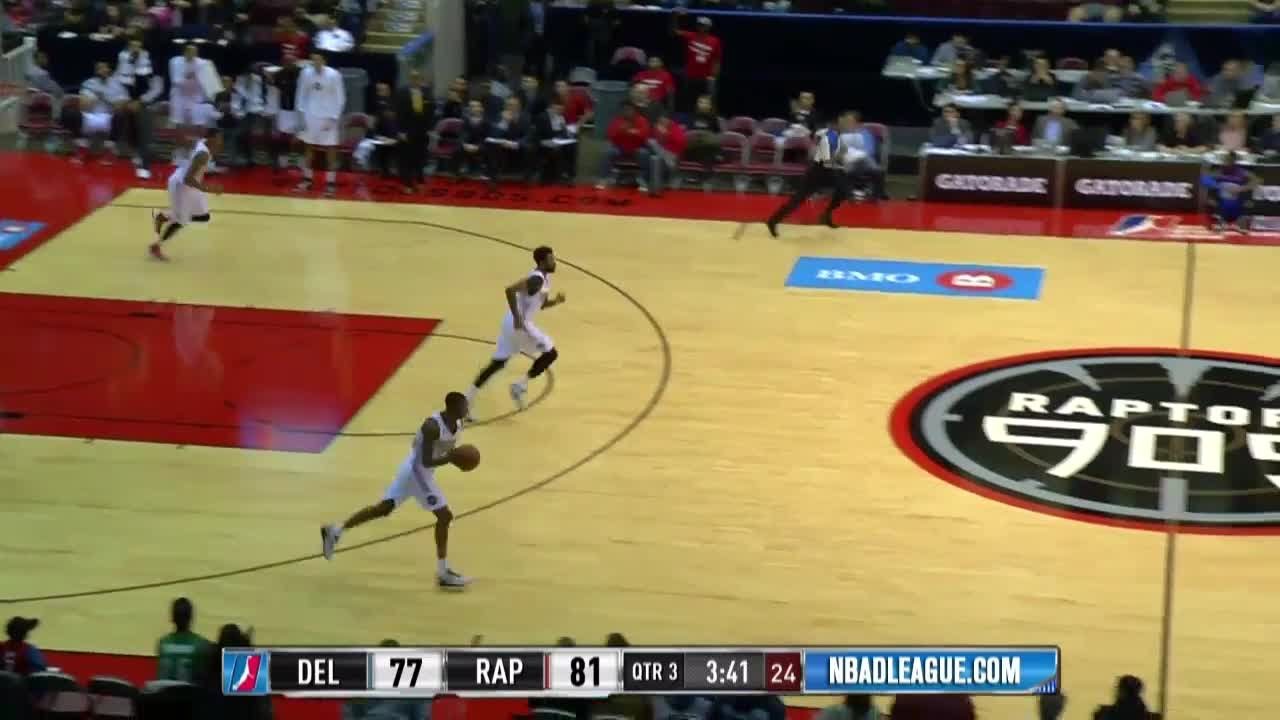 Bruno Caboclo with 3 Blocks against the 87ers