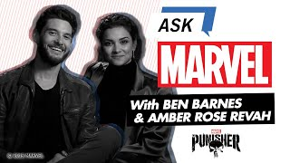 The Punisher's Ben Barnes and Amber Rose Revah   Ask Marvel