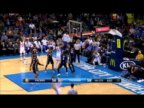 Enes Kanter 15 pts vs Indiana Pacers [02.24.2015]
