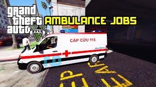 GTA 5 - Làm tài xế xe cứu thương chở bệnh nhân trong thành phố LS !!!