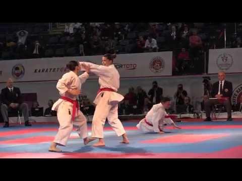 Female Team Kata TURKEY in the Final. Bunkai Kata Anan. 2015 European Karate Championships