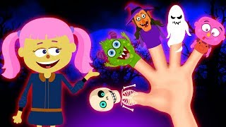 Spooky Finger Family Rhymes | 3D Halloween Songs For Kids | Hoopla Halloween