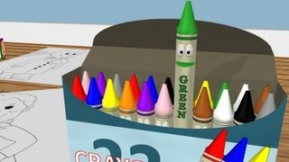 Learn Colors with Crayons! Color Lesson for Kids