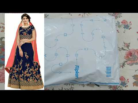Lehenga choli review, try on and unboxing| party wear lehenga|Flipkart lehenga| घाघरा||lehenga dress