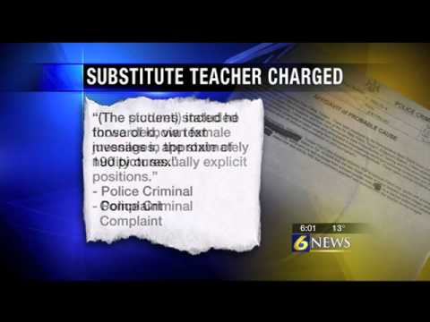 Substitute teacher charged for buying naked pict