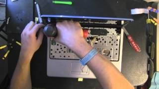 DELL INSPIRON 1440 take apart video, disassemble, how to open disassembly