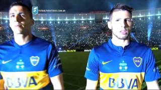 Un recibimiento espectacular. Central - Boca. Final. Copa Argentina 2015. FPT.