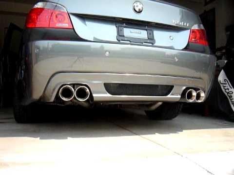 Custom Quad Exhaust For E60 Bmw 550i Youtube