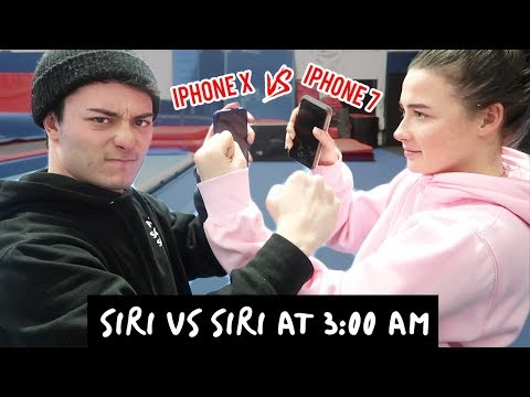 DO NOT TALK TO SIRI AT 3 AM!! (iPhone X SIRI vs iPhone 7 SIRI) *THEY FOUGHT*