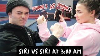 DO NOT TALK TO SIRI AT 3 AM!! (iPhone X SIRI vs iPhone 7 SIRI) *THEY FOUGHT*