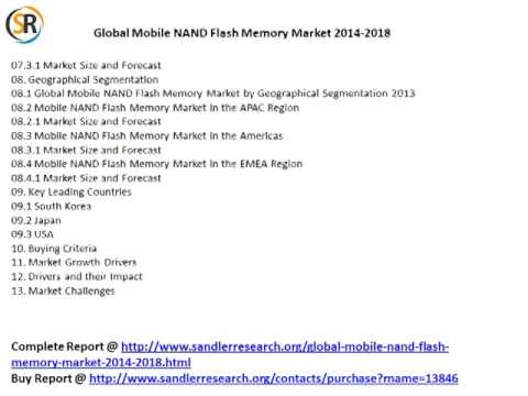 global mobile nand flash memory market 2014 2018