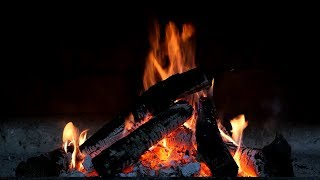 Relaxing Fireplace with Piano Music ( HD)
