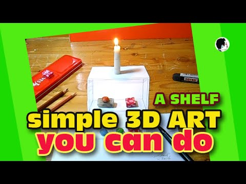 How to Draw Simple 3D Art | Awesome Shelf