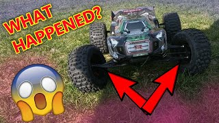 My indestructible RC car BROKE! lol