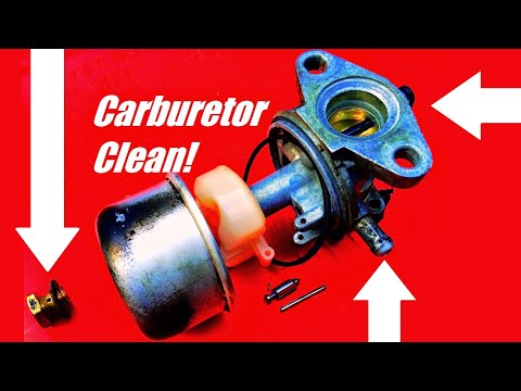 HOW TO Repair or Fix a Lawn Mower by Cleaning Out the Carburetor -Briggs & Stratton or Tecumseh