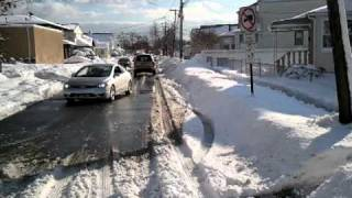 Civic Si tow by Honda Pilot after Blizzard 2011