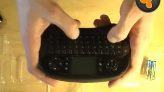 Unboxing: Trust Tocamy Wireless Mini USB Keyboard Mouse Touchpad Combo für PC/Linux/Mac/PS3/XBOX