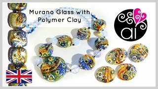 Beads like Murano Glass with Polymer Clay | Tutorial | ENG version