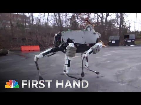 Boston Dynamics' Robot Dog 'Spot' Is Terrifyingly Lifelike | NBC News
