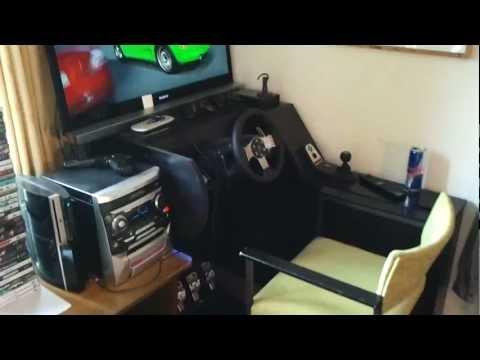 logitech g27 racing wheel gran turismo 5 racing cockpit