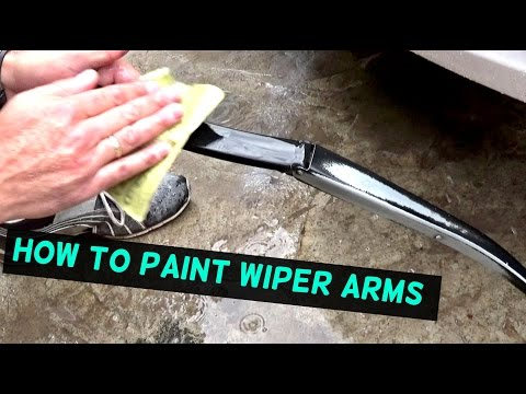HOW TO PAINT WINDSHIELD WIPER ARMS. FADED WINDSHIELD WIPER ARM