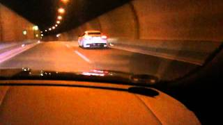 Maserati GranTurismo MC Stradale - downshift, acceleration in a tunnel