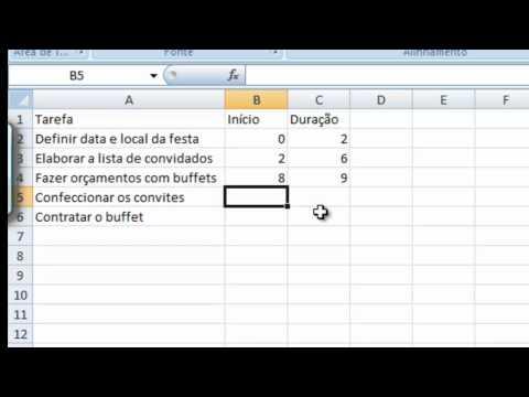 Simulando Grafico de Gantt no Excel
