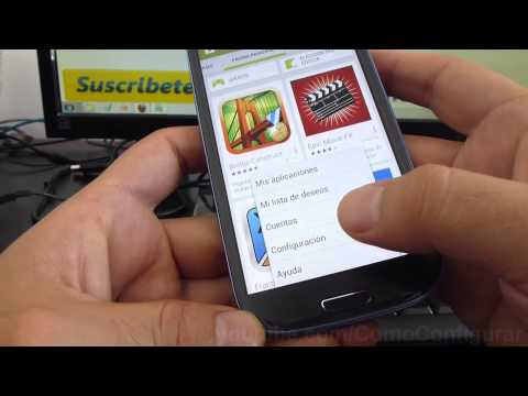 como desactivar actualizacion automatica android Samsung Galaxy S3 español